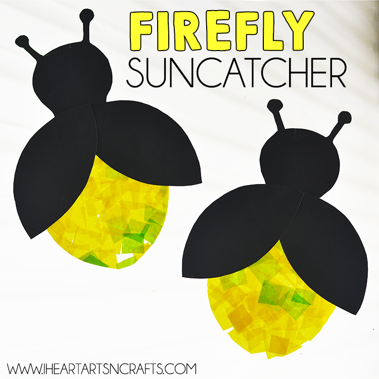 Eric Carle Inspired Firefly Suncatcher Craft I Heart Arts N Crafts