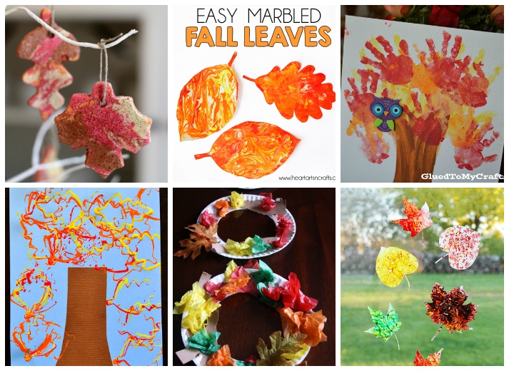 Fall Kids Craft Ideas Part - 43: Fall Leaf Kids Crafts