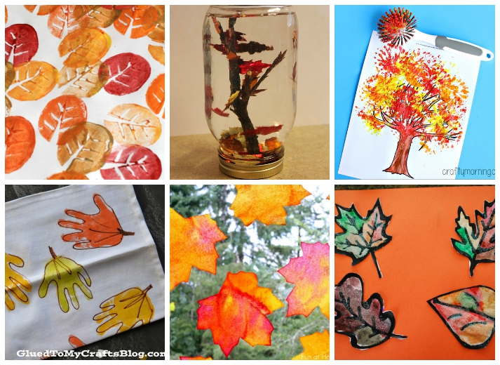 18 Fall Leaf Crafts For Kids I Heart Arts N Dry Leaves And