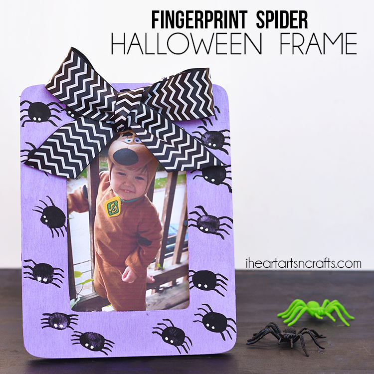 Fingerprint Spider Halloween Picture Frame