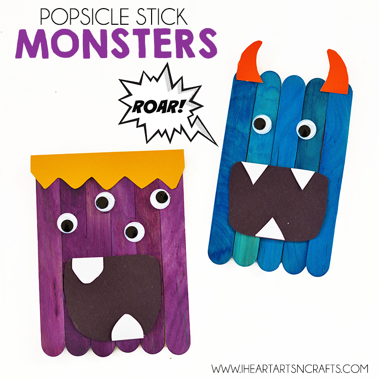 Popsicle Stick Monsters I Heart Arts N Crafts