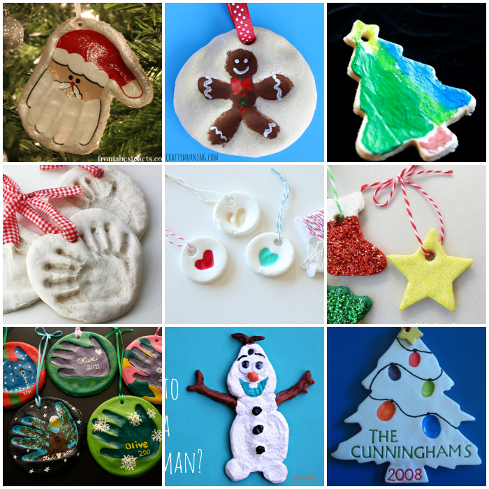 Kid Ornaments Craft Ideas Part - 20: 25+ Easy Salt Dough Ornaments For Kids To Make