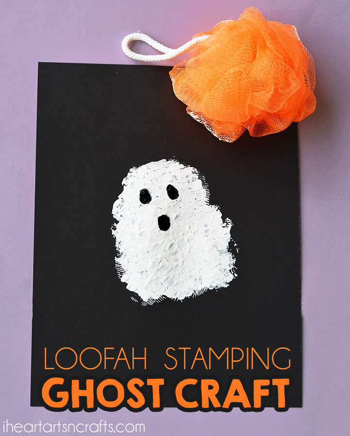 Loofah Stamping Ghost Craft For Kids