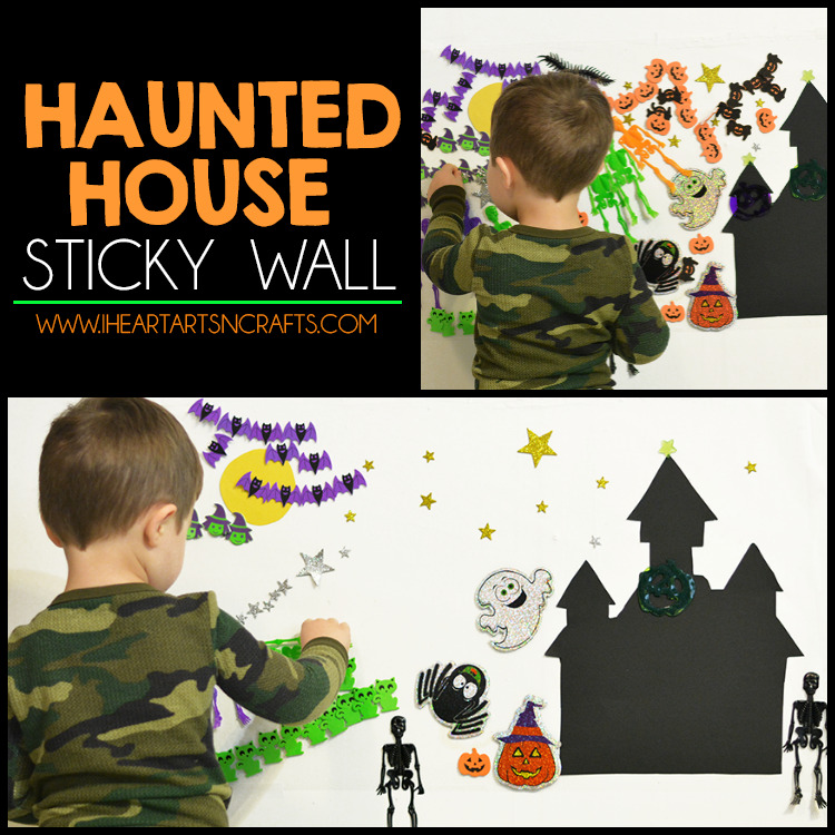 Haunted House Sticky Wall Activity