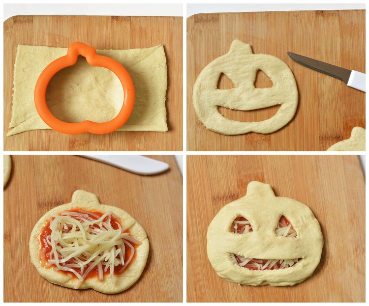 Jack O' Lantern Pizza Pockets with Pillsbury Crescents®