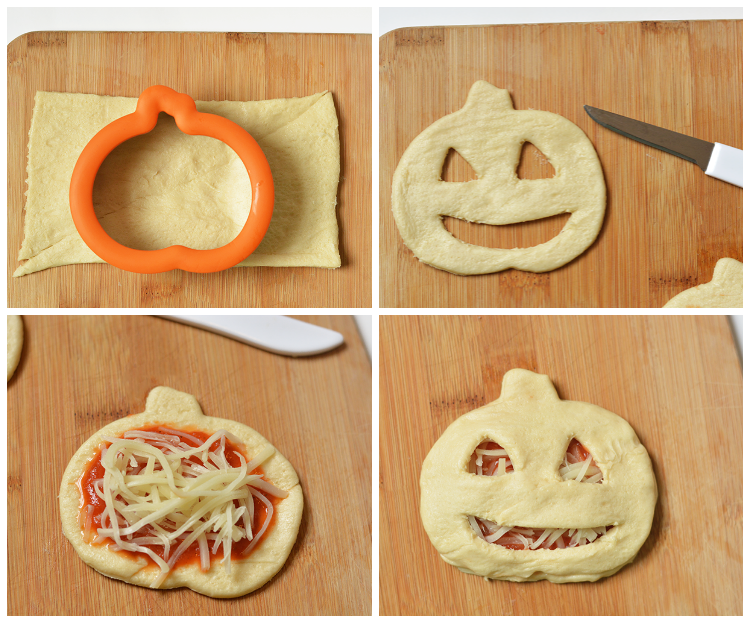 Jack O' Lantern Pizza Pockets with Pillsbury Crescents®