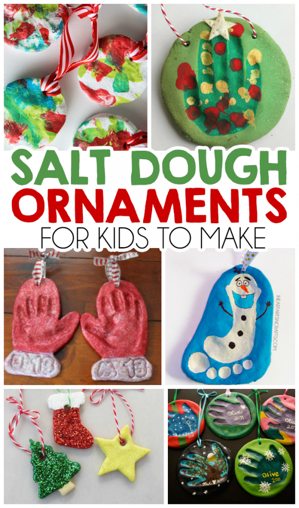 How To Make Christmas Tree Ornaments With Dough : Christmas salt dough ornaments for kids i heart arts