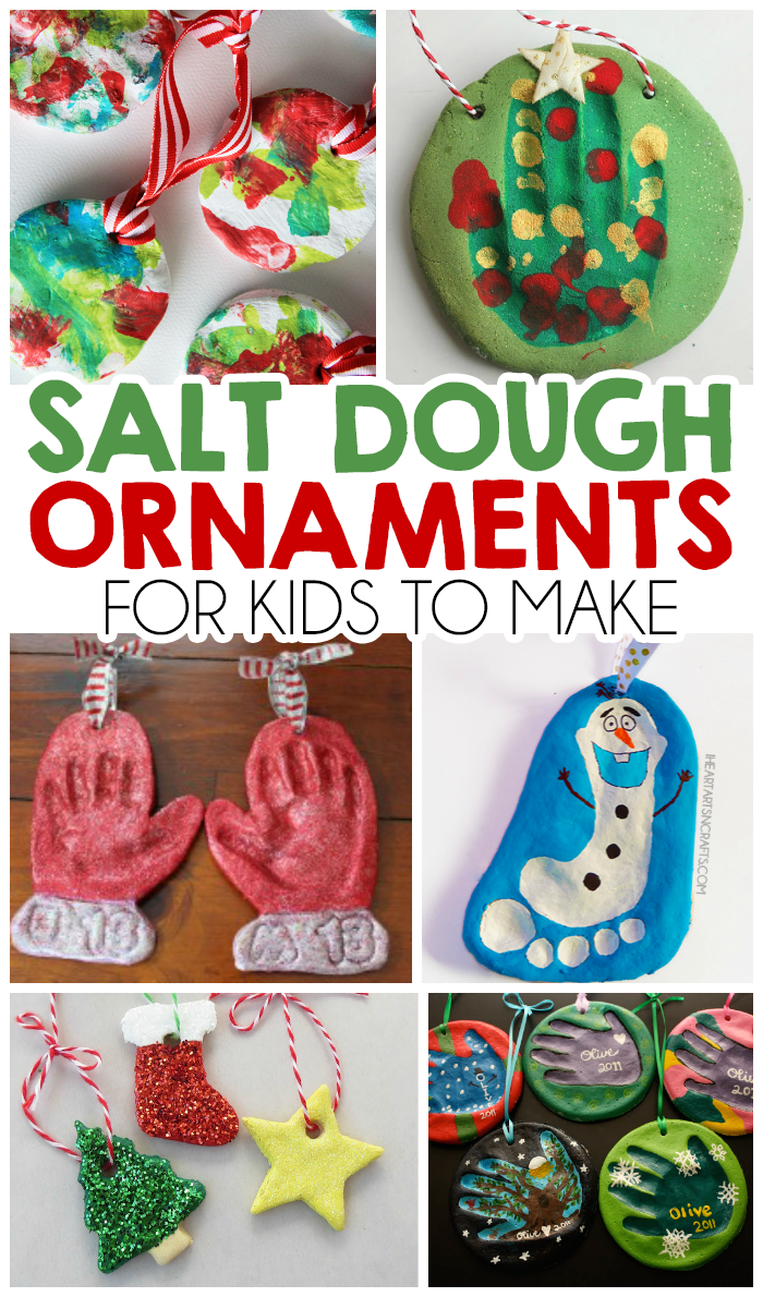 27 christmas salt dough ornaments for kids to make - Homemade Christmas Decorations For Kids