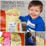 Raising Kids Who Give Back - Easy ways for you to teach your child to give.