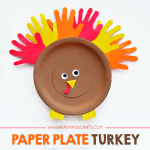 Paper Plate Turkey Kids Craft