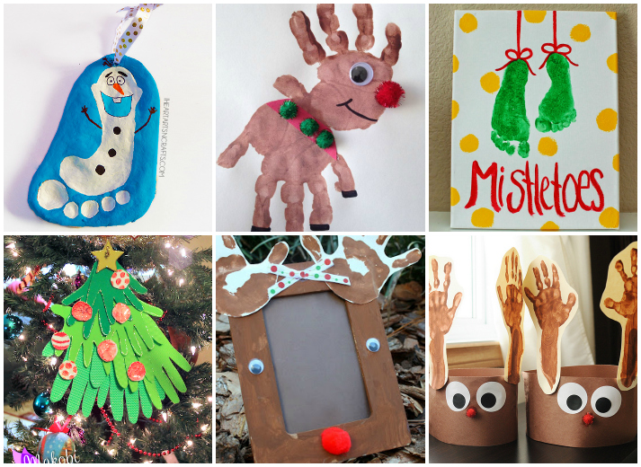 Nice 21 Handprint And Footprint Christmas Crafts