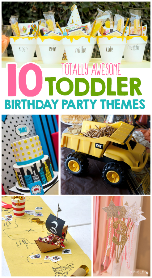 10 Totally Awesome Toddler Birthday Party Themes I Heart Arts n Crafts