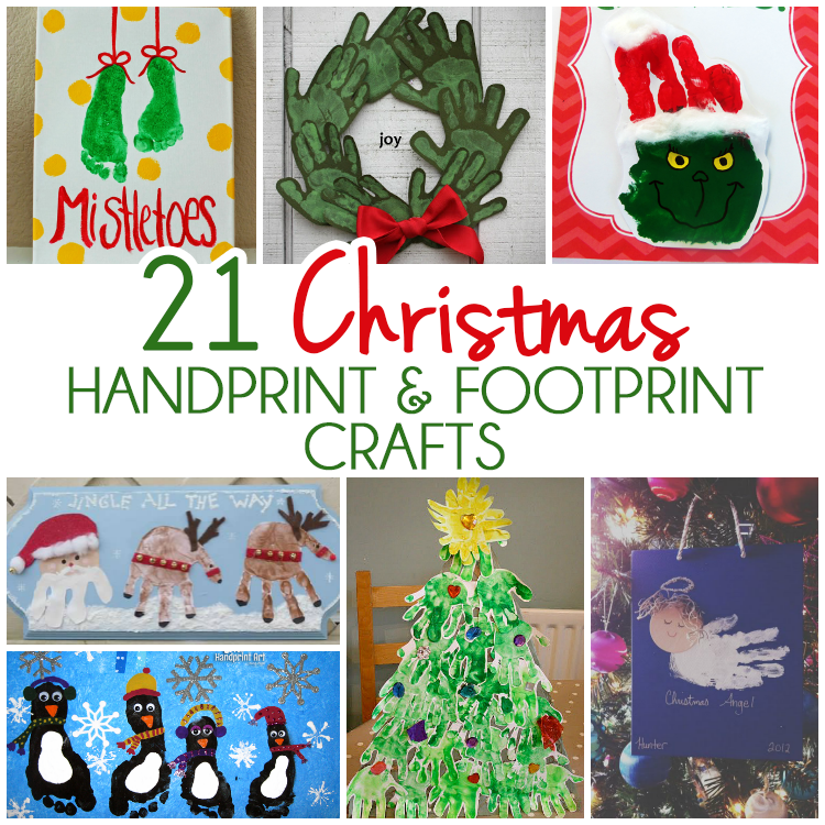 21 Handprint and Footprint Christmas Crafts