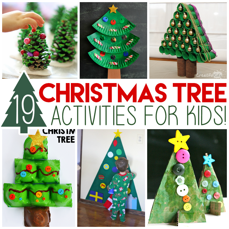 Crafts For Christmas.Creative Christmas Tree Crafts And Activities For Kids I