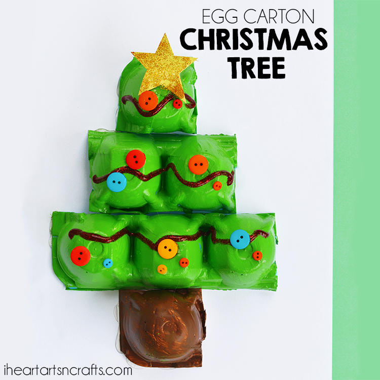 egg carton christmas tree craft i heart arts n crafts ForChristmas Decorations Using Egg Cartons