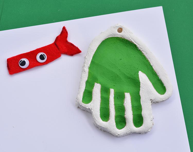 Handprint Teenage Mutant Ninja Turtle Salt Dough Ornament