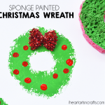 Sponge Painted Christmas Wreath
