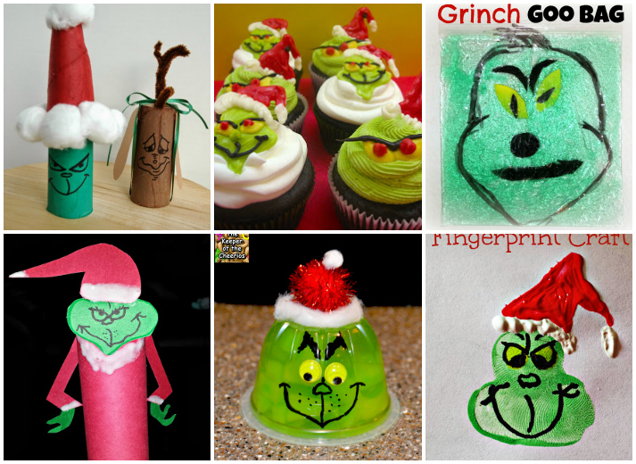 Easy Grinch Kids Crafts, Activities and Recipes