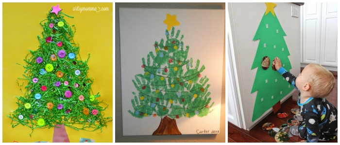 fun and easy kids christmas tree crafts and activities