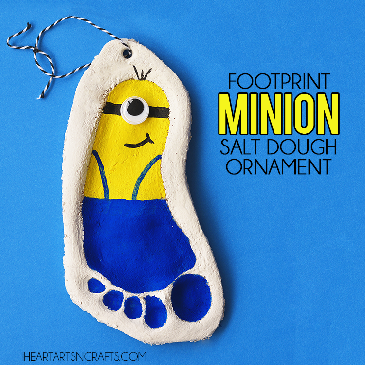 Footprint Minion Salt Dough Ornament