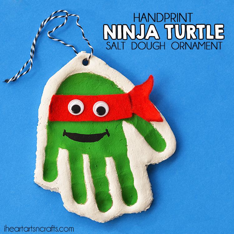 Handprint Teenage Mutant Ninja Turtle Salt Dough Ornament - I ...