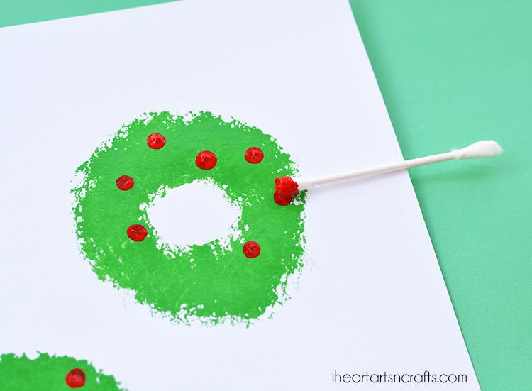 Sponge Painted Christmas Wreath