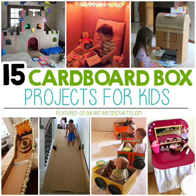15 Super Fun Cardboard Box Projects For Kids I Heart Arts N Crafts