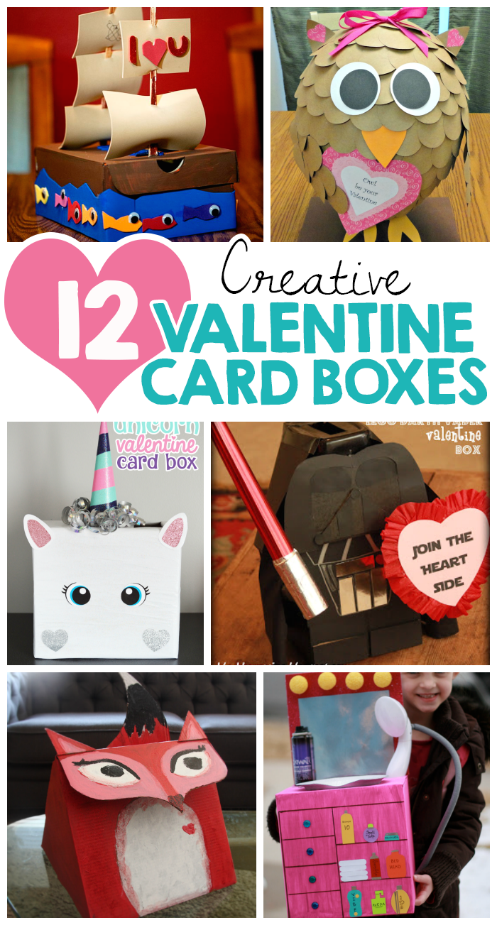 12 Creative Valentine Card Boxes I Heart Arts n Crafts – Valentines Card Boxes