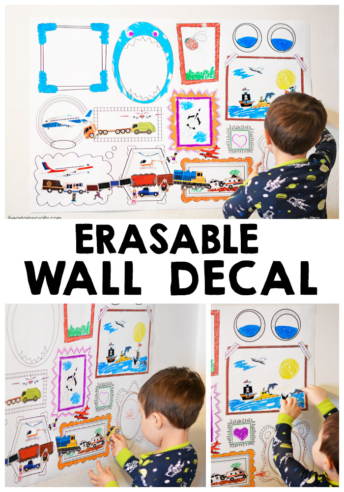 DIY Erasable Frames Wall Decal