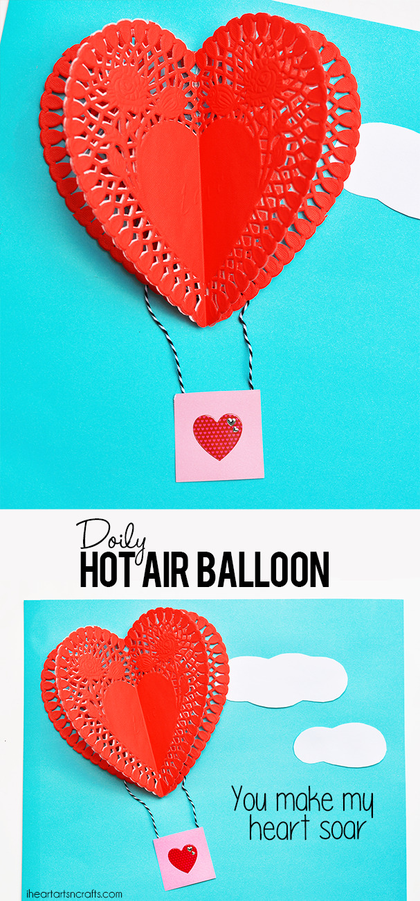 Doily Hot Air Balloon Craft