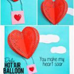 Doily Hot Air Balloon Craft