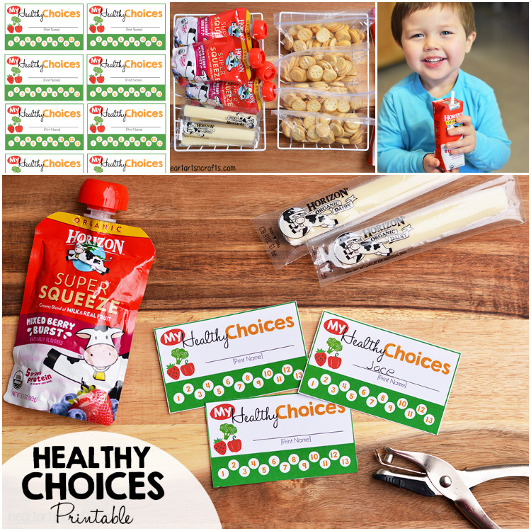 Free My Healthy Choices Punch Card Printable + Tips For Picky Eaters