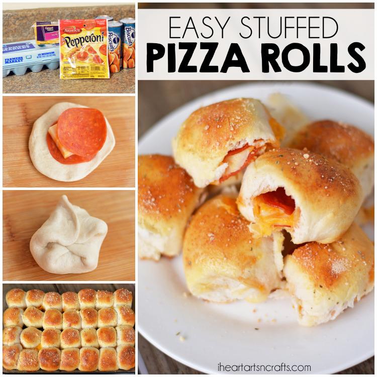 Easy Stuffed Pizza Rolls