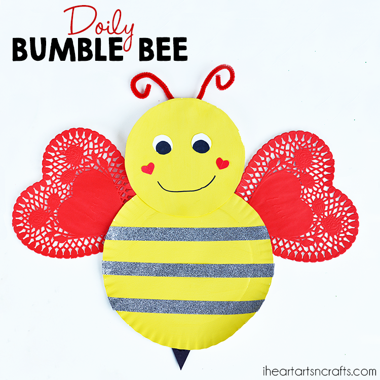 Doily Bumble Bee Valentines Day Craft I Heart Arts N Crafts