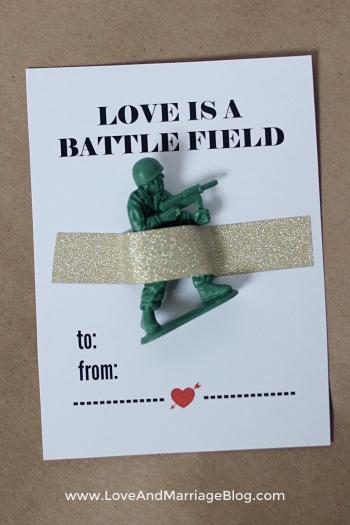Army Man Valentines