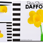 Potato Stamped 3D Daffodil Craft