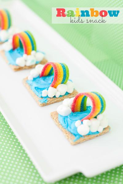 Graham Cracker Rainbow Weather Snack