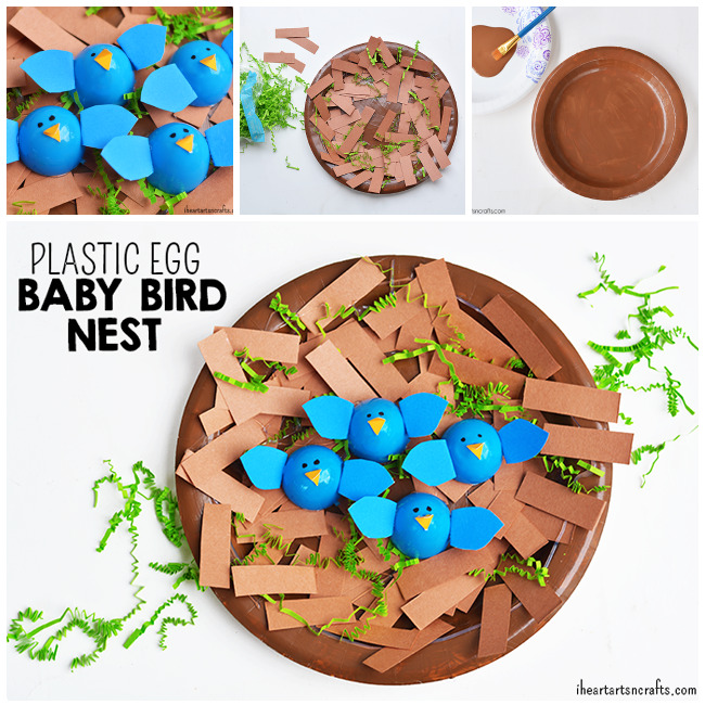 Plastic Egg Birds Nest Craft