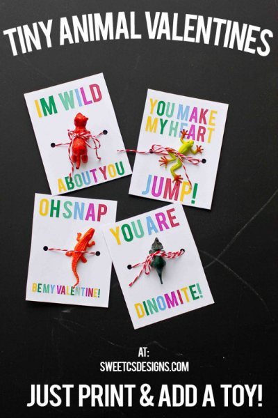Tiny Animal Valentines