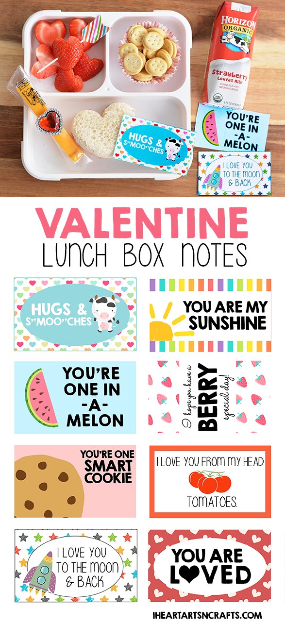 Free Printable Valentine Lunch Box Notes