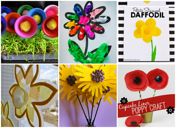 15 Fun Flower Crafts For Kids