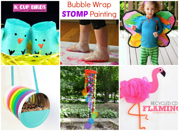 15 Kids Crafts From Recyclables