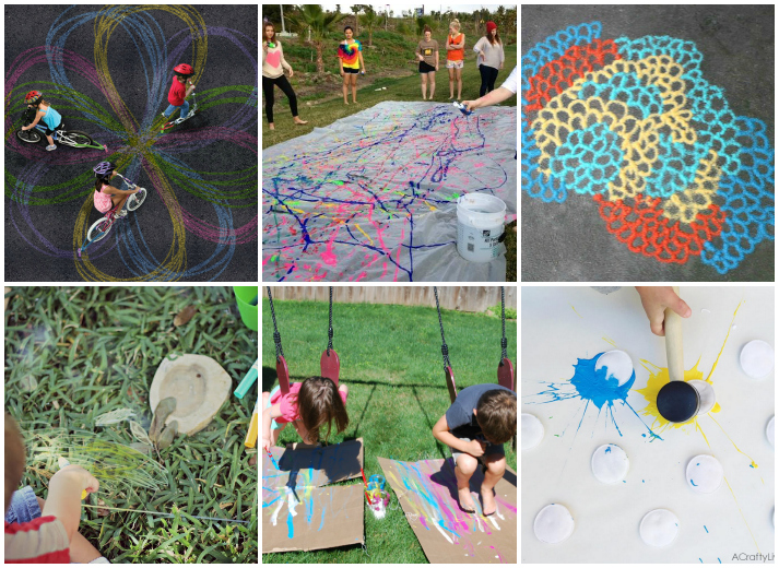 15 Outside Art Activities for Kids
