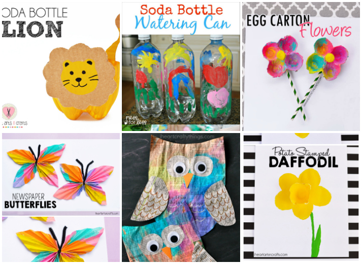 20 Kids Crafts From Recycled Materials I Heart Arts N Rh Iheartartsncrafts Com Craft Supplies Clip Art Adult