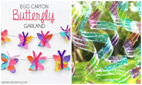 20 kids crafts from recycled materials i heart arts n crafts for Easy recycled materials