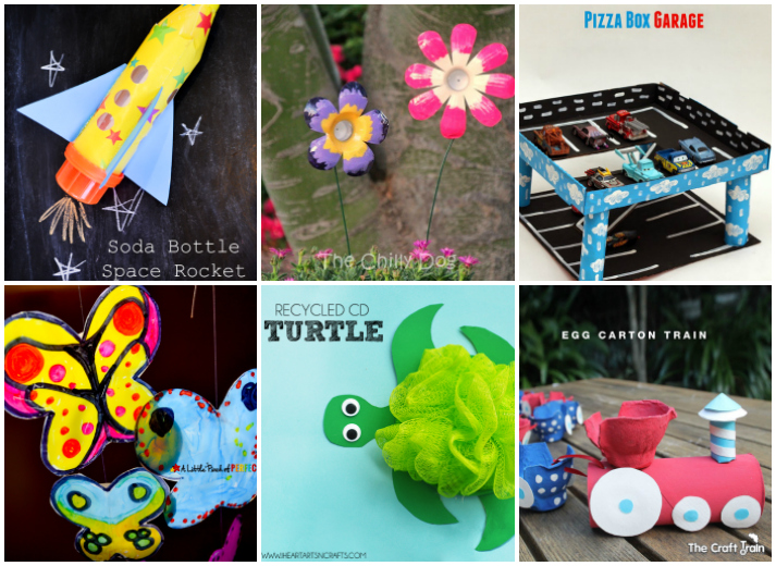 20 kids crafts from recycled materials i heart arts n crafts for Art n craft from waste