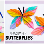Newspaper Butterfly Craft
