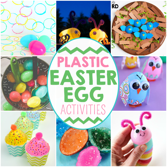 18 Plastic Easter Egg Crafts And Activities