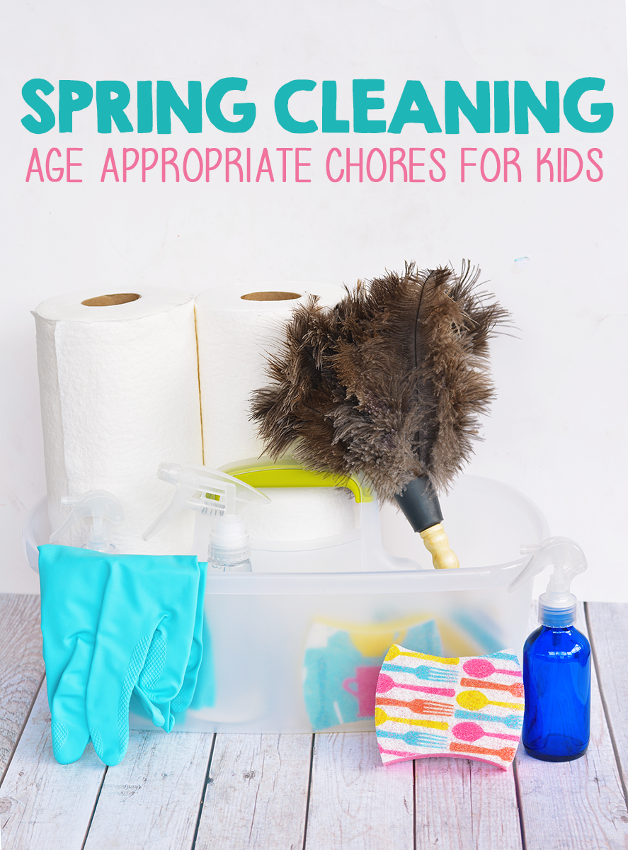 Spring Cleaning With Kids - Age Appropriate Chores For Kids