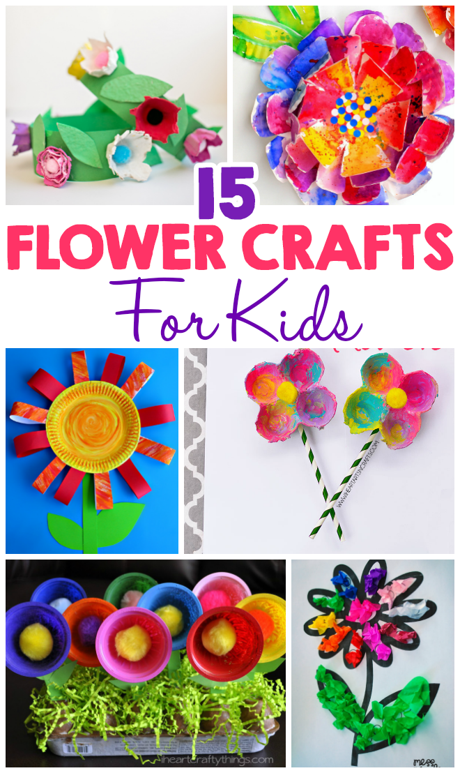 15 Flower Crafts For Kids I Heart Arts N Crafts